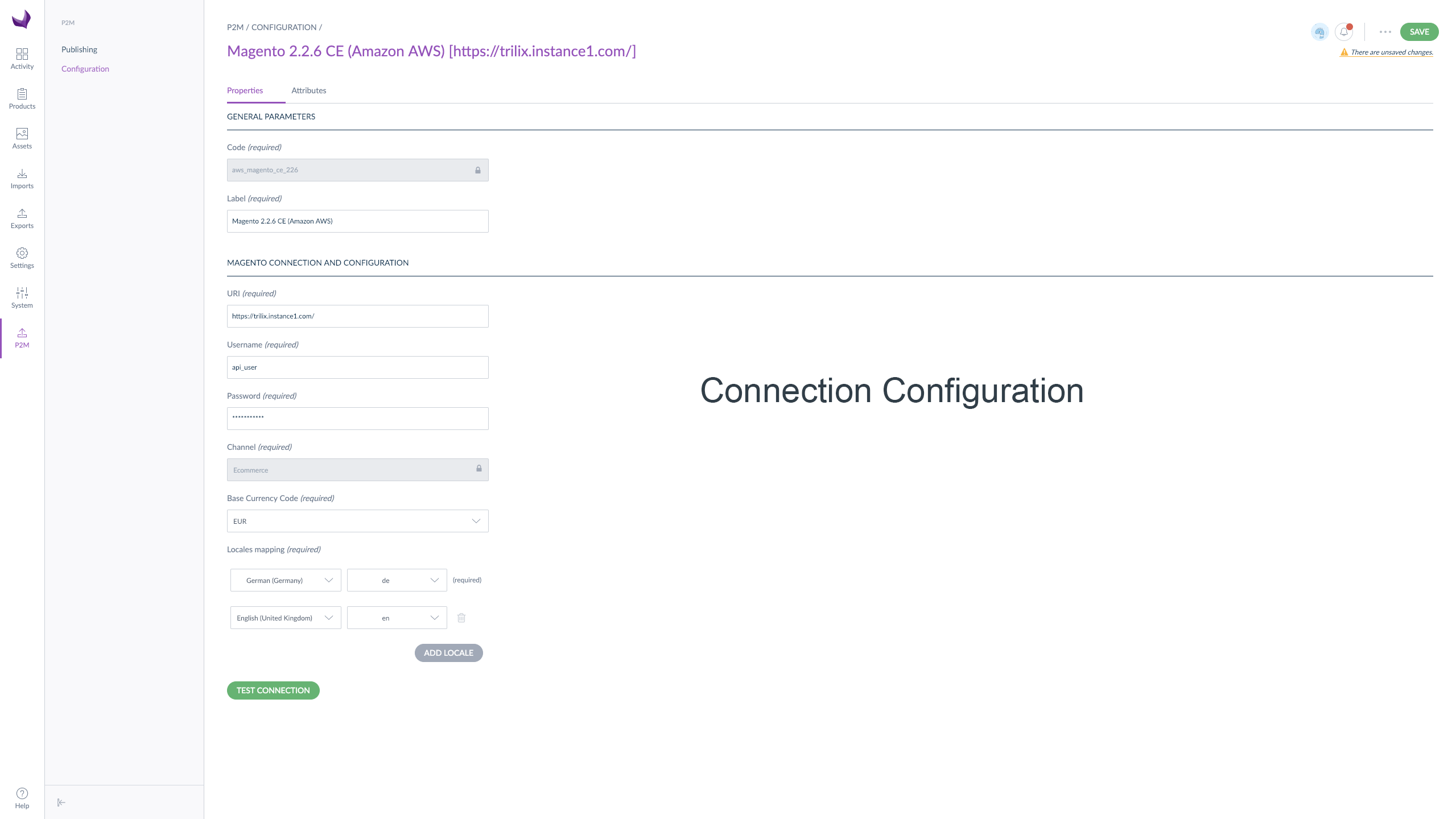 Connection Configuration